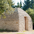 Ancient Bories hut in French Provence - Stock Photo