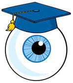 Bulbo oculare blu che indossa un berretto — Foto Stock