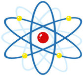 Färgglada atom — Stockfoto