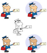 Postal Worker Mail Man — Stock Photo