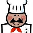 Winking Black Chef — Stock Photo