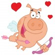 Cupid Piggy — Stock Photo