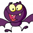 Stock Photo: Cartoon Character Happy Bat
