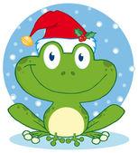 Christmas Happy Frog — Stock Photo