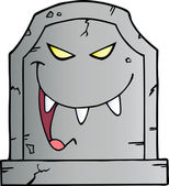 Laughing Evil Headstone — Stock Photo