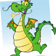 Happy Smiling Dragon Cartoon Character — Stock Photo