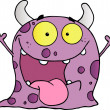 Happy Violet Monster - Stock Photo