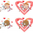Cupid with Bow and Arrow — Stock Photo