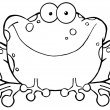 Stock Photo: Outlined Speckled Toad Smiling