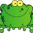 Speckled Green Frog Smiling — Foto de Stock