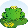 Stock Photo: Happy Frog On Lilypad
