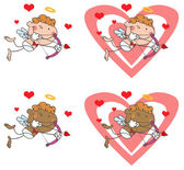 Cupid with Bow and Arrow — Stockfoto