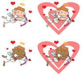 Cupidon avec arc et flèche — Photo
