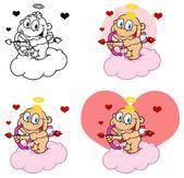 幸せな赤ちゃんキューピッド — ストック写真