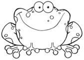 Outlined Speckled Toad Smiling — Stok fotoğraf