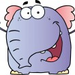 Stock Photo: Elephant Cartoon Character