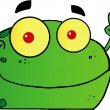 Frog Gesturing The Peace Sign With His Hand — Stock Photo #8512687