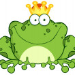 Stock Photo: Frog Prince Cartoon Character