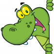 Happy Crocodile - Stock Photo