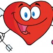 Happy Heart Cupid - Stock Photo