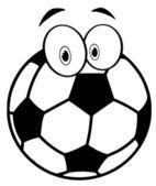 изложил мультфильм футбольный мяч — Стоковое фото