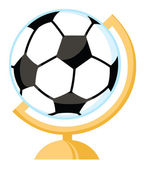 Soccer Ball Desk Globe — Stock Photo
