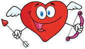 Cupido coração feliz — Fotografia Stock