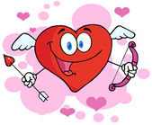 Happy Heart Cupid — Stock Photo