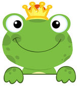 Frog Prince Over A Sign Board — Stock Photo