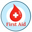 Foto Stock: First Aid Blood Drop Circle