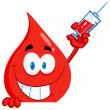 Blood Guy Holding A Syringe — Stock Photo #8966789
