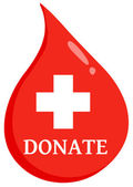 Donate First Aid Blood Drop — Stock Photo