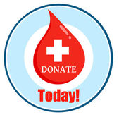 First Aid Blood Drop Donate Today Circle — Stock Photo