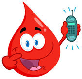 Blood Guy Holding A Cell Phone — Stock Photo