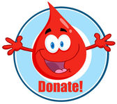 Blood Guy Asking You To Donate — Stock Photo