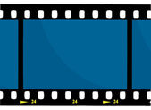 Blue 35 mm Movie Film Strip — Stock Photo