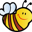 Smiling Bee - Stock Photo