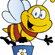 Stock Photo: Bee Flying Bucket
