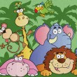 Cartoon Jungle Animals — Stock Photo #9088183