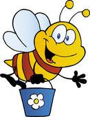 Cubo voladores abeja — Foto de Stock