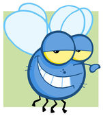 Grinning Blue Fly — Stock Photo