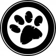 Black Paw Print Banner — Stock Photo
