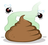 Stinky Pile Of Poop With Two Flies — Stock Photo