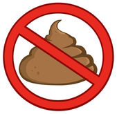 Stop Poop Sign — Stock Photo