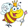 Cute Queen Bee Waving — Stock Photo #9263081