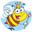 Queen Bee Cartoon Character — Stock Photo