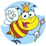 Queen Bee Cartoon Character — Stock Photo #9263085