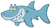 Shark Cartoon Character — Stock Photo