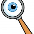Magnifying Glass With Eye Ball — Stock Photo #9323284