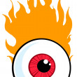 Stock Photo: Red Eyeball In Flames